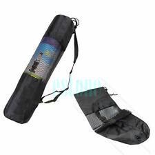 Nylon 26 Inch Yoga Mat Bag Carrier Mesh Center Strap Bk New