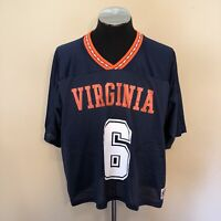 Vintage Virginia Lacrosse Lax World Team Mesh Jersey One Size See Measurements