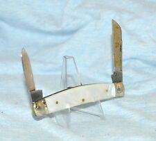 """FIGHT'N ROOSTER MOTHER OF PEARL CONGRESS KNIFE """"CAPTAIN'S ROOSTER"""""""