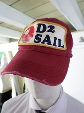 DSQUARED2 sail maroon authentic distressed baseball cap hat