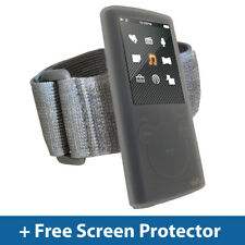 Chiaro Custodia Pelle + Fascia da Braccio per Sony Walkman NWZ-E453 NWZ-E455 SILICONE titolare