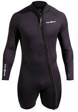 NeoSport Waterman Step-in Jacket Scuba Diving Wetsuit Men's Black  7mm 3XL XXXL