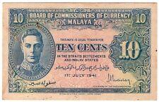 1941 King George VI 10¢ Banknote