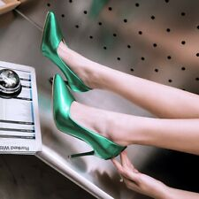 Womens Slim High Heels Pointed Toe Pumps Stiletto Patent Leather Party Shoes Sz