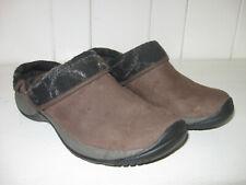 MERRELL Women's Encore Ripple Bracken Suede Leather Slip On Clog Shoe Sz 7