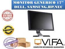 """MONITOR SCHERMO PC  LCD 17"""" POLLICI GRADO """"B"""" VARI BRAND ACER HP SAMSUNG DELL"""