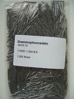 ♫ 1.000 Grammophonnadeln 78rpm ♫ Schellackplatte ♫ Mittelaut ♫ medium needles