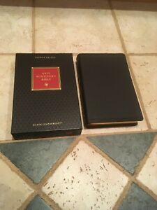 NKJV BIBLE MINISTERS BIBLE LEATHER SOFT BLACK RED LETTER