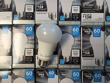 12 Pack LED 60W = 10W Soft White Dimmable 60 Watt Equivalent A19 2700K E26 bulb