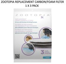 *NEW* ZOOTOPIA WATER FOUNTAIN REPLACEMENT CARBON FOAM FILTER 1 X 3 PACK 27202