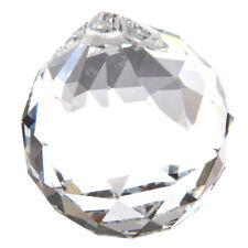40MM Feng Shui Pendentif de Boule de cristal facette Decoration (transparan K1K3