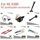 XK X380 Parts Landing Gear/LED Headlight/Red Propeller/Brushless ESC/CCW Motor