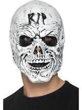 Adult Skeleton Skull Overhead Grim Reaper Mask Zombie Halloween Fancy Dress New