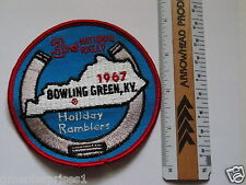 Holiday Ramblers Patch, 1967 3rd National Rally, Bowling Green Patch, (#717)(**)