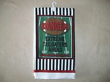 """""""Danger-Extreme Tailgaters Ahead"""" Football Themed Dish Towel, NEW WITH TAGS!!"""