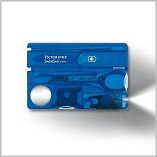 Victorinox Coltello Multiuso SWISSCARD Blu con Luce a LED Bianco Novità Svizzero