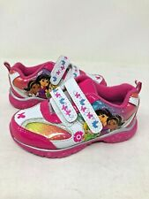 NEW! Dora Explorer Toddler Fashion Sneakers Pink/Wht Size:8 #39203 i21d a