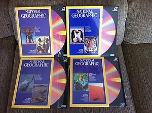National Geographic - Job Lot Lotto 4 X Laserdisc Ld - 1 Sealed 3 como Nuovi