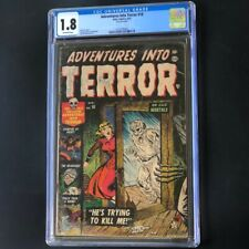 ADVENTURES INTO TERROR #18 (1953) 💥 CGC 1.8 💥 Pre-Code Horror PCH Atlas Comic