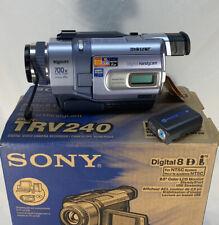 Sony Handycam DCR-TRV240E PAL Format Camcorder-Plays PAL Analog/Digital Formats