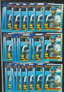 (100) CARD LOT 1990 TOPPS ALL-STAR ROOKIE CUP #336 KEN GRIFFEY JR + 1989 PACIFIC