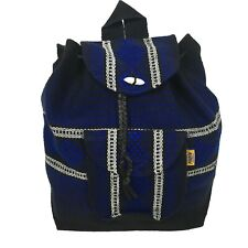 Small Blue Beach Mexican Hippie Baja Tote Ethnic Backpack Bag Blanket Hipster