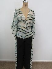 BOOHOO Twenty Four Seven Print Lightweight Long Cardigan/Duster -Size L