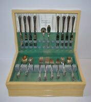 Holmes & Edwards SPRING GARDEN Inlaid Plated Silverware 57 Piece Set Plate Boxed