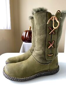Born Women's Leather Hand-crafted Winter Boots W7647 Size 7.5