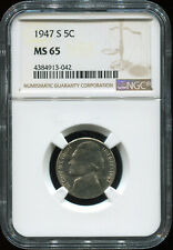 1947 S 5C MS 65 NGC USA coin