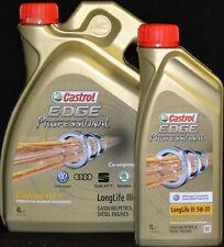 4+1 Liter Castrol EDGE Professional Longlife III 5W-30 Motoröl VW AUDI SEAT 5W30