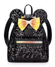 Disney Parks Halloween Minnie Mouse Sequin Mini Backpack Candy Corn New with Tag