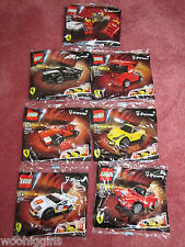 LEGO FERRARI SHELL V POWER PIT CREW & FERRARI CARS 30196 & 30195 - NEW/SEALED