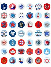 Nautical ~ Sailing Themed PRINTABLE Bottle Cap Images