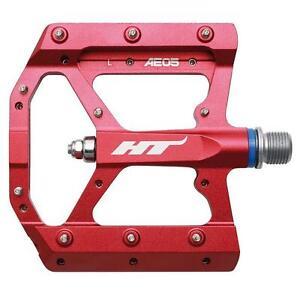 HT Pedals AE05 Evo Platform CrMo MTB BMX DH Pedals  Red