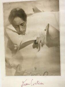 "Rare Jean Cocteau Poster from Sepia Photo by Otto Fenn 23"" x 33"""