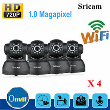 4X Sricam 720P Wifi 1.0 MP H.264 Wireless PT ONVIF CCTV Security IP Camera EK