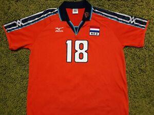 Holland Mizuno Volleyball Match Issue #18 Huijbers Shirt IEV
