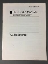 Original Audio Source EQ Eleven Stereo Graphic Equalizer Owner's Manual 1991