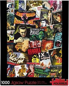 Hammer House of Horror Collage 1000 piece jigsaw puzzle 710mm x 510mm (nm)