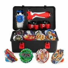 Beyblade Burst Set w/ LR Launcher Grip + Portable Storage Case Gift Lots of 12