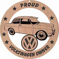 Volkswagen Type 3 Notchback Sedan Wood Ornament Engraved