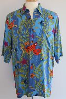 REYN SPOONER DISNEY PIXAR FINDING DORY Hawaiian Camp Shirt Large Lasseter NWT