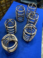 6 Industrial Steampunk Large Lamp Cage Parts Metal Gears Sprocket Supplies Lot