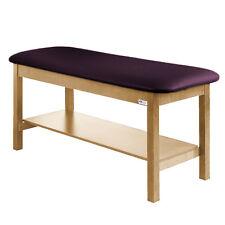 "Treatment Exam Table Wooden Full shelf Flat top 30"" Purplegray"