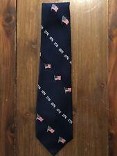 Vintage Tie USA Flag God Bless America 1776 1976 July 4th Bicentennial Mens