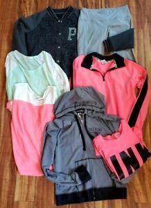 Victoria's Secret Pink Clothing Lot of 7, Size Large, Jacket, Legging, Top