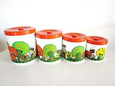 Vintage Kitchen Canisters Mushroom Set 4 Grandma Kitsch Retro Royal Jerry CA