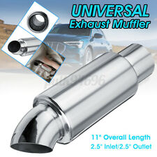 2.5'' Inlet/Outlet Muffler Exhaust Pipe Tip Sound Resonator Tuning Universal US