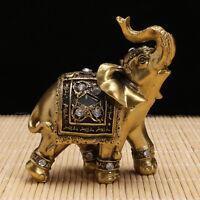 Elephant Statue Ornament Figurine With Box Lucky Wealth Figurine Home Decor Gift